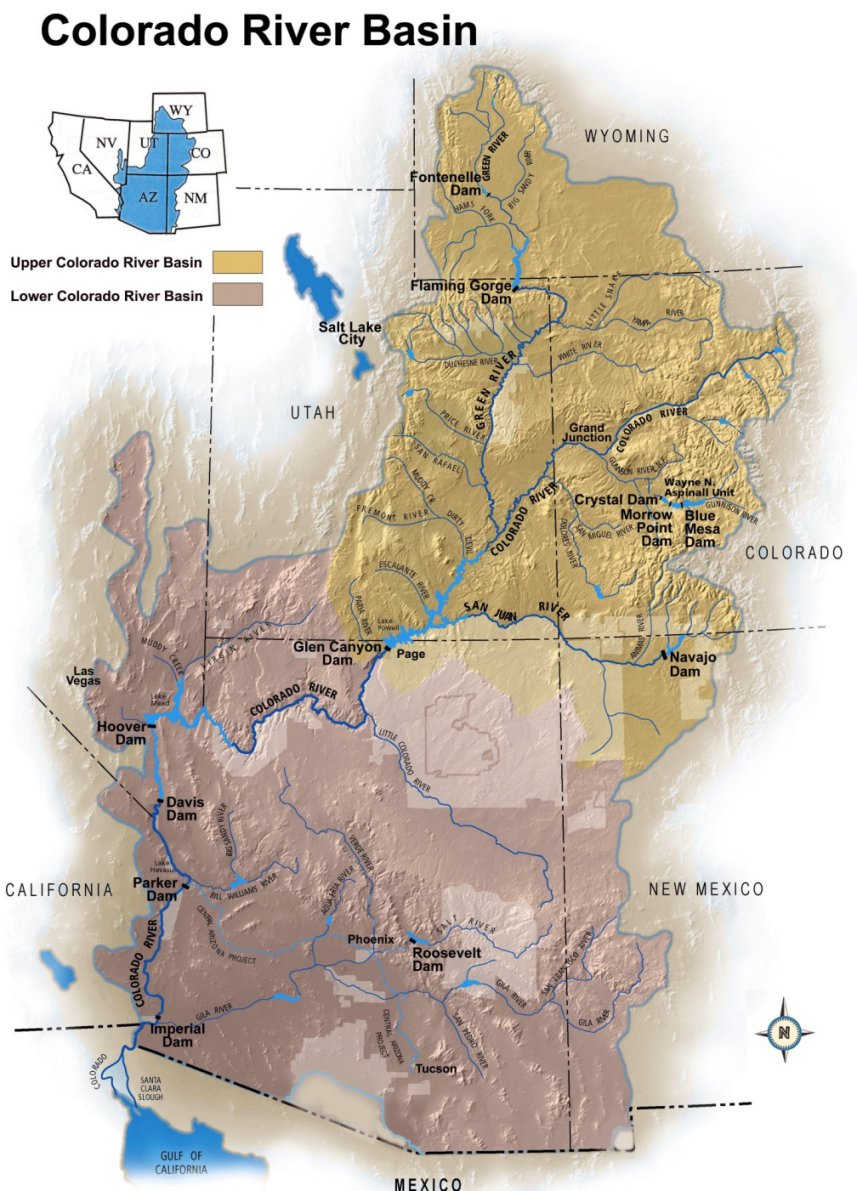 The River TreeFlow - Us map colorado river